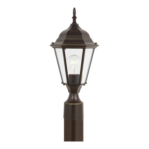Bakersville Heirloom Bronze One-Light Outdoor Post Mount with Clear Beveled Shade
