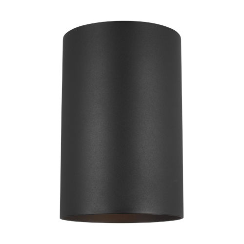 Cylinders Black Six-Inch One-Light Outdoor Wall Sconce Energy Star