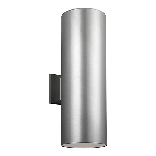 Outdoor Cylinders Painted Brushed Nickel 18-Inch LED Outdoor Wall Sconce