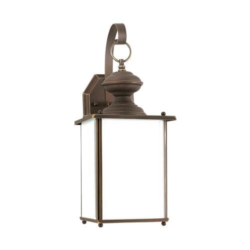 Sea Gull Lighting Jamestowne Antique Bronze Energy Star Seven-Inch LED Outdoor Wall Lantern