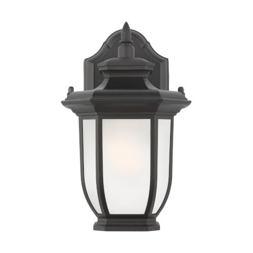 Childress Black One-Light Outdoor Wall Sconce with Satin Etched Shade