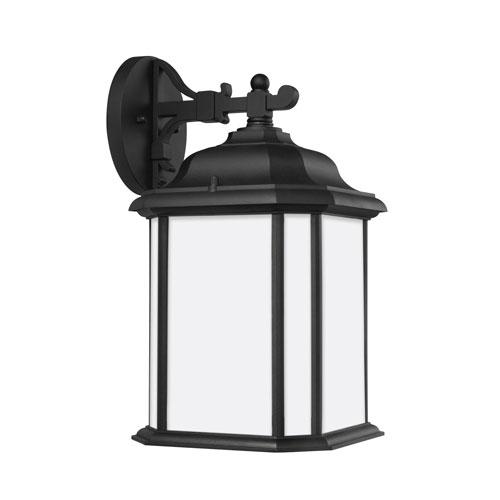 Sea Gull Lighting Kent Black Energy Star Nine-Inch LED Outdoor Wall Lantern