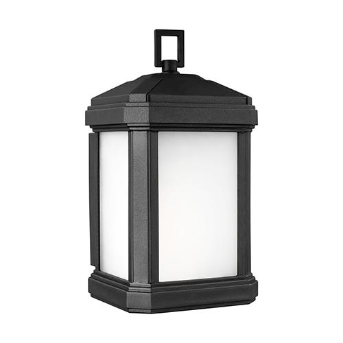 Sea Gull Lighting Gaelan Black Five-Inch One-Light Outdoor Wall Sconce