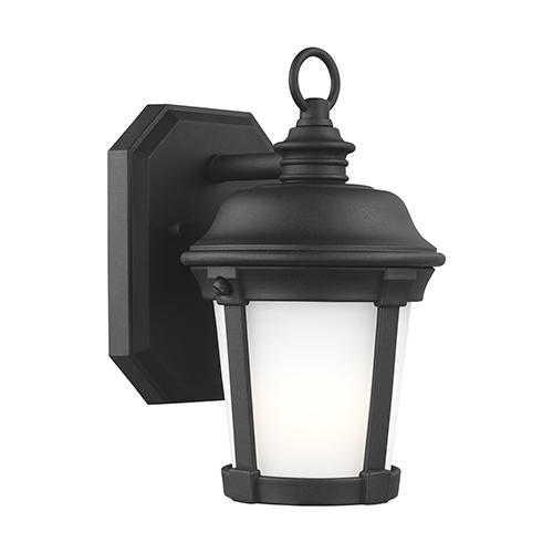 Sea Gull Lighting Calder Black Six-Inch One-Light Outdoor Wall Sconce