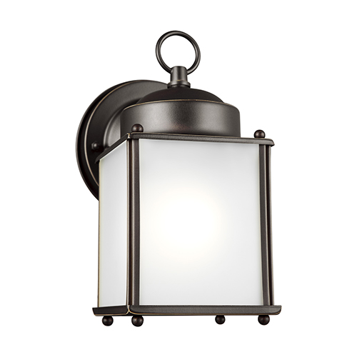 Sea Gull Lighting New Castle Antique Bronze Energy Star Four-Inch One-Light Outdoor Wall Sconce