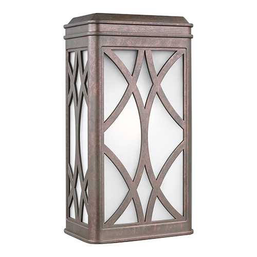Sea Gull Lighting Melito Weathered Copper Energy Star Seven-Inch One-Light Outdoor Wall Sconce