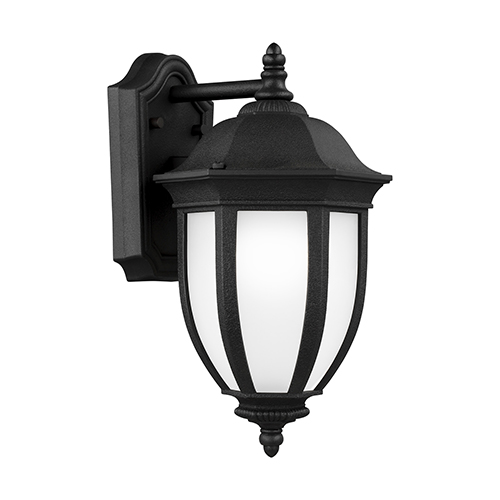 Sea Gull Lighting Galvyn Black Energy Star Eight-Inch One-Light Outdoor Wall Sconce