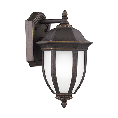 Sea Gull Lighting Galvyn Antique Bronze Energy Star Eight-Inch One-Light Outdoor Wall Sconce