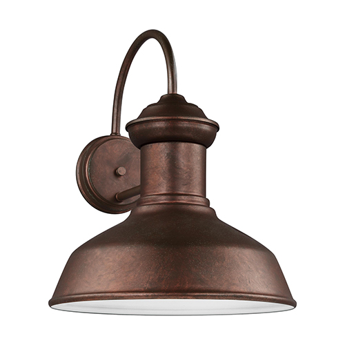 Sea Gull Lighting Fredricksburg Weathered Copper 13-Inch LED Outdoor Wall Sconce