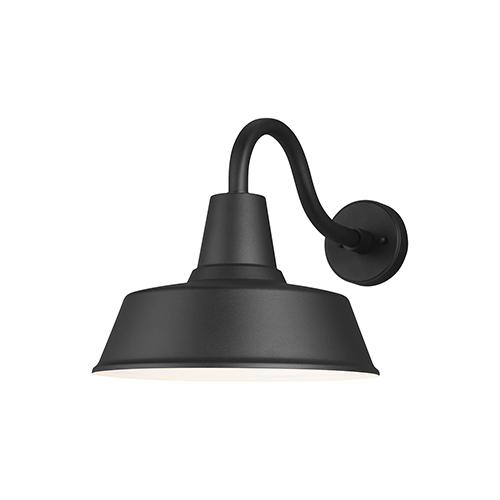Barn Light Black 14-Inch One-Light Outdoor Wall Lantern