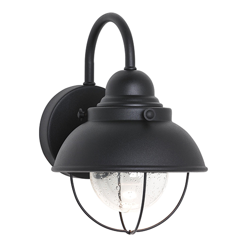 Sebring Black Eight-Inch LED Outdoor Wall Sconce