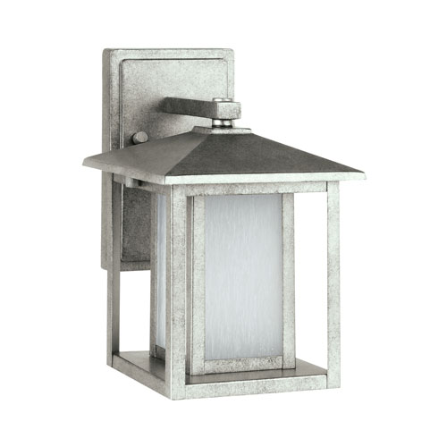 Hunnington Weathered Pewter 11-Inch Energy Star LED Outdoor Wall Lantern