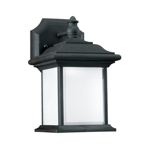 Sea Gull Lighting Wynfield Black Energy Star 10-Inch LED Outdoor Wall Lantern