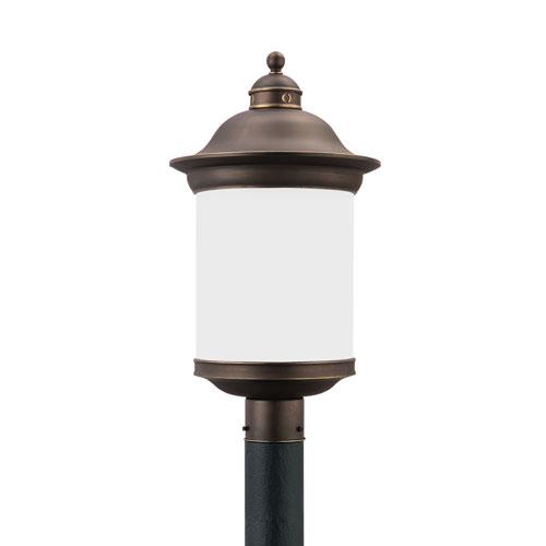 Sea Gull Lighting Hermitage Antique Bronze Energy Star LED Outdoor Wall Lantern