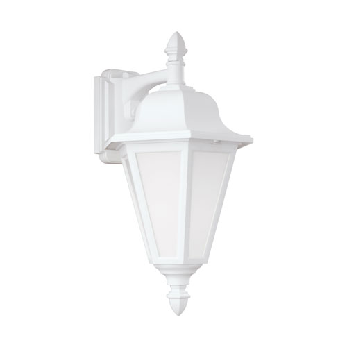 Sea Gull Lighting Brentwood White Energy Star 18-Inch LED Outdoor Wall Lantern