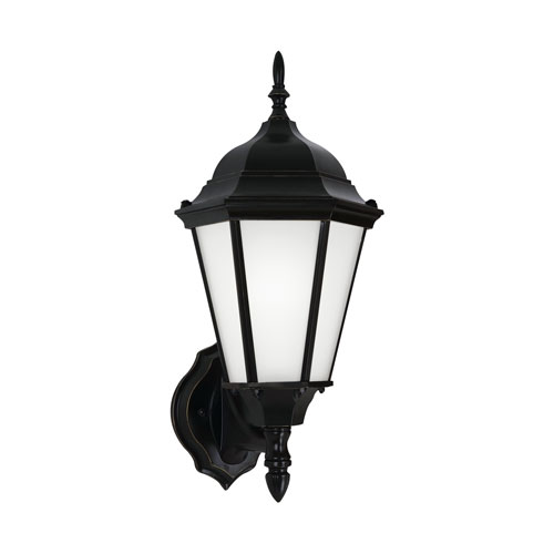 Sea Gull Lighting Bakersville Black Energy Star 17-Inch LED Outdoor Wall Lantern