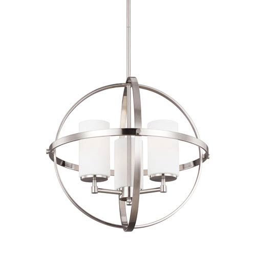 Alturas Brushed Nickel Energy Star Three-Light LED Chandelier