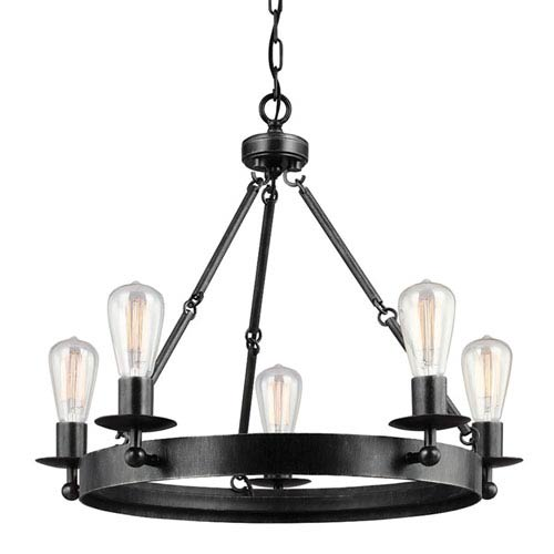 Sea Gull Lighting Ravenwood Manor Stardust Five-Light Round Chandelier