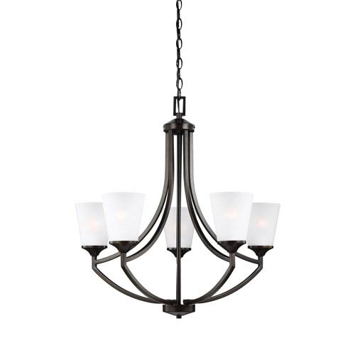 Hanford Bronze Five-Light Chandelier