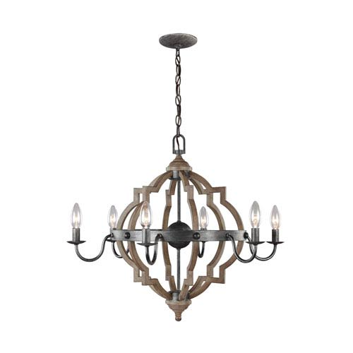 Socorro Stardust 26-Inch Energy Star Six-Light Chandelier