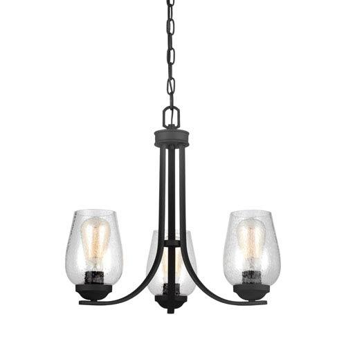 Morill Blacksmith 19.5-Inch Three-Light Chandelier