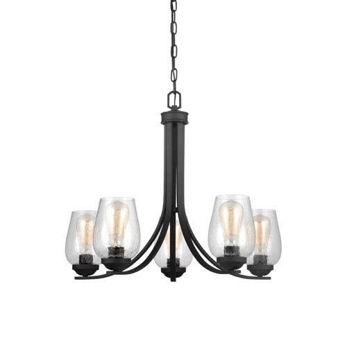 Morill Blacksmith 26-Inch Five-Light Chandelier