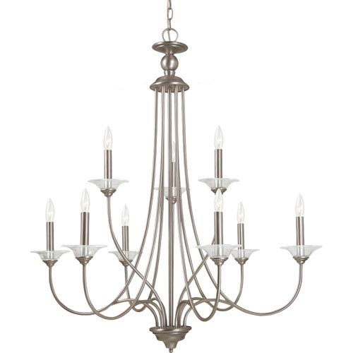 Sea Gull Lighting Lemont Antique Brushed Nickel  9-Light Chandelier