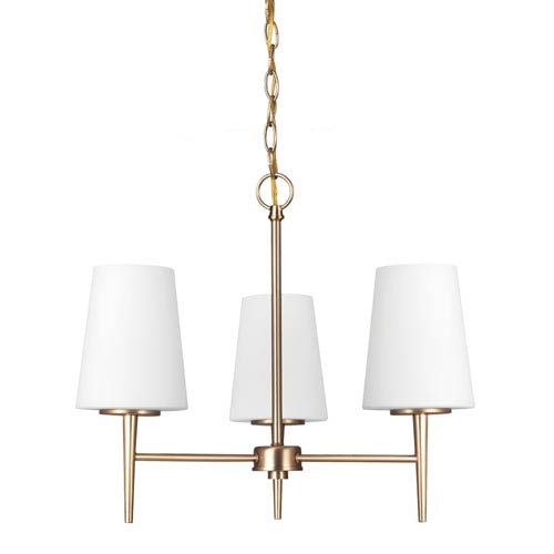 Driscoll Satin Bronze Three Light Single Tier Chandelier
