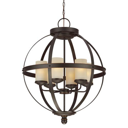 Sea Gull Lighting Sfera Autumn Bronze 32.25-Inch Six Light Single Tier Chandelier