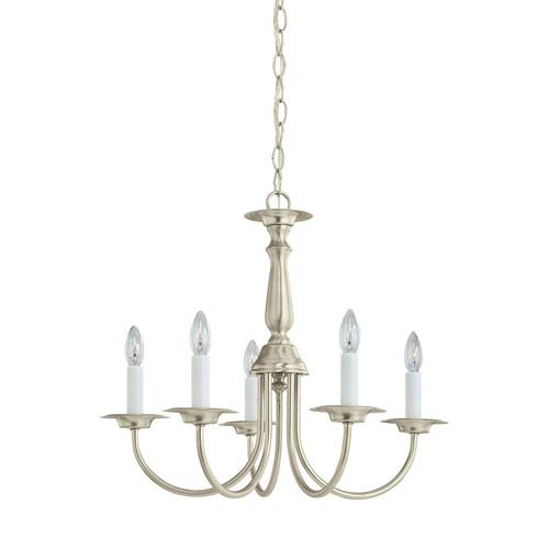 Sea Gull Lighting Traditional Brushed Nickel 18.5-Inch Energy Star Five-Light Chandelier
