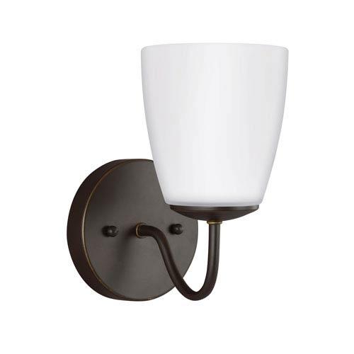Sea Gull Lighting Bannock Heirloom Bronze 5-Inch One-Light Bath Light
