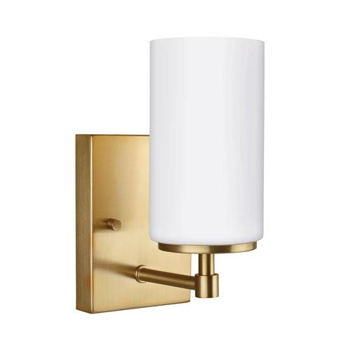 Alturas Satin Brass 4-Inch One-Light Bath Light