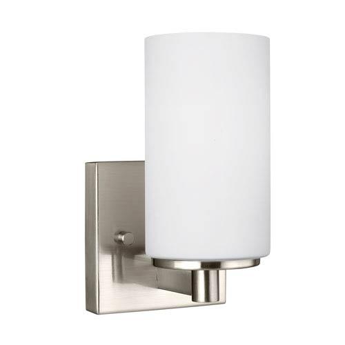 Sea Gull Lighting Hettinger Brushed Nickel 4.5-Inch One-Light Bath Light