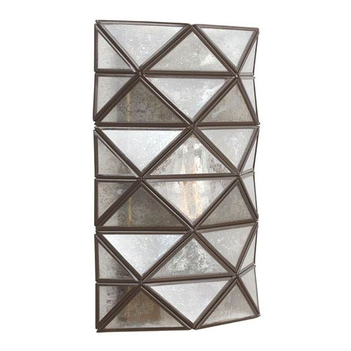 Harambee Heirloom Bronze One-Light Wall Sconce with Mercury Glass