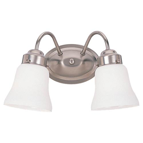Westmont Brushed Nickel Two-Light Wall Mounted Bath Fixture