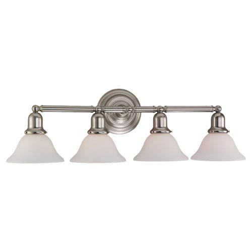 Brushed Nickel Four-Light Bath Fixture