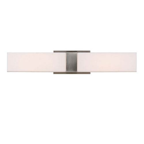 Sea Gull Lighting Vandeventer Brushed Nickel LED 23-Inch Bath Vanity with Rectangular White Acrylic Diffuser