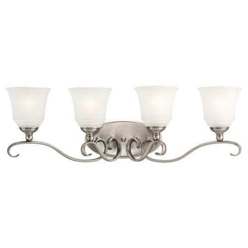 Parkview Antique Brushed Nickel Four-Light Bath Fixture
