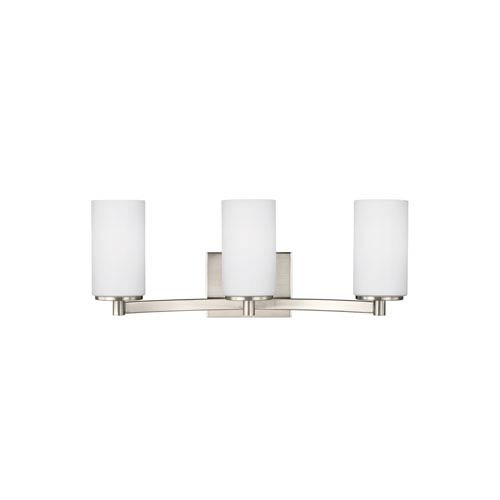 Hettinger Brushed Nickel 20.5-Inch Three-Light Bath Light