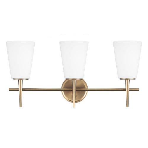 Sea Gull Lighting Driscoll Satin Bronze 12-Inch Three Light Bathroom Vanity Fixture