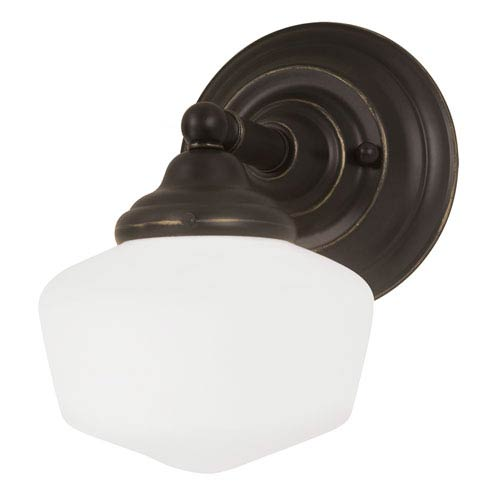 Sea Gull Lighting Academy Heirloom Bronze One Light Wall Sconce