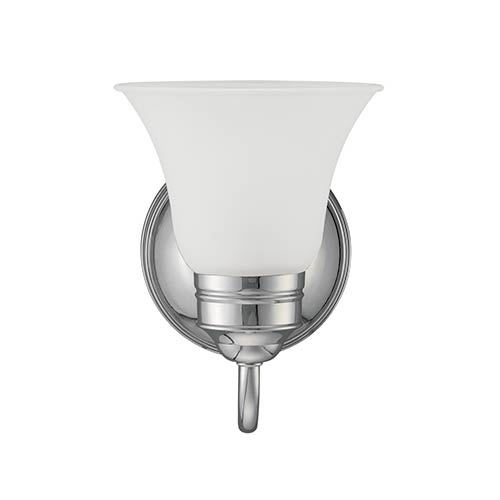Sea Gull Lighting Gladstone Chrome One-Light Wall Mounted Bath Fixture