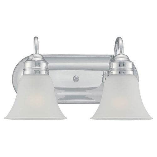 Gladstone Chrome Two-Light Bath Fixture