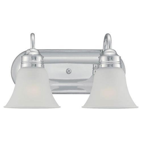 Sea Gull Lighting Gladstone Chrome Two-Light Bath Fixture