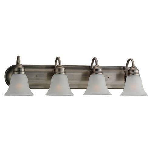 Sea Gull Lighting Gladstone Antique Brushed Nickel Four-Light Bath Fixture