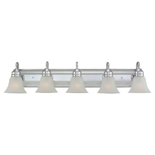 Sea Gull Lighting Gladstone Five-Light Chrome Bath Light