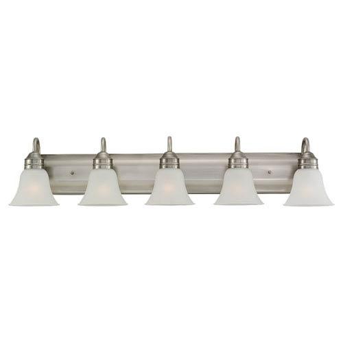 Gladstone Five-Light Antique Brushed Nickel Bath Light