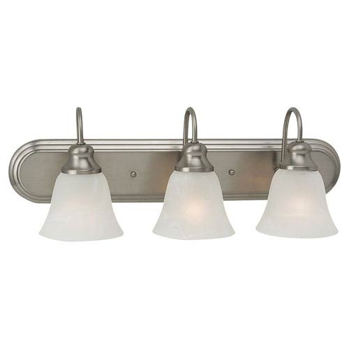 Windgate Three-Light Brushed Nickel Bath Light