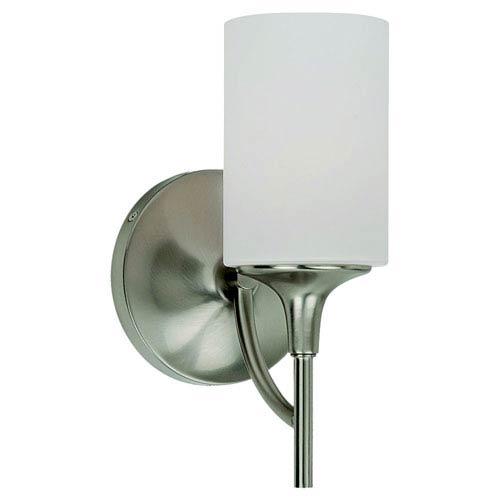 Sea Gull Lighting Stirling One-Light Brushed Nickel Bath Light