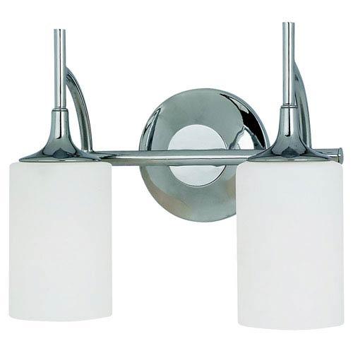 Sea Gull Lighting Stirling Two-Light Chrome Bath Light
